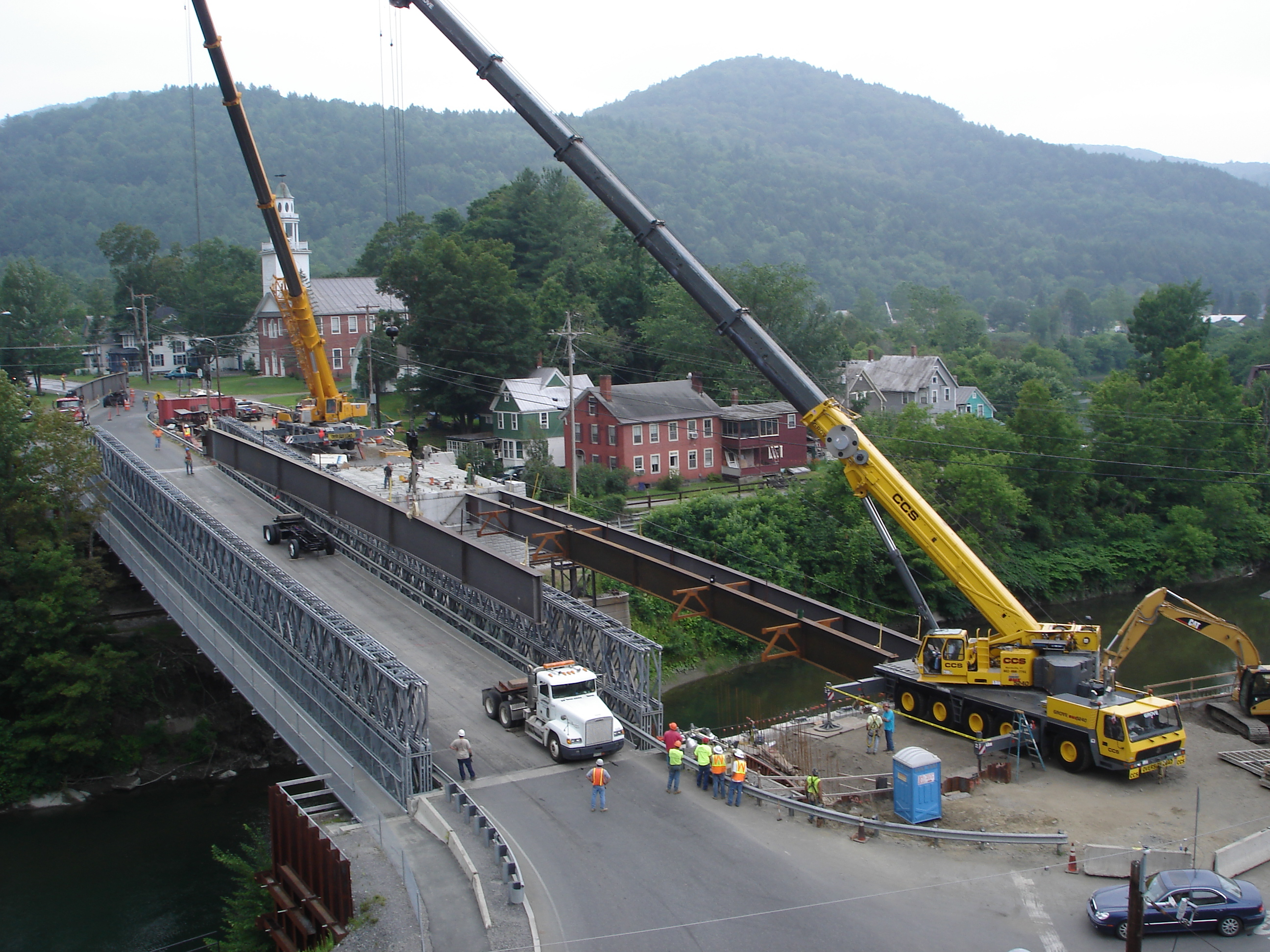 Setting Double Bridge Girder-Lime Kiln Bridge