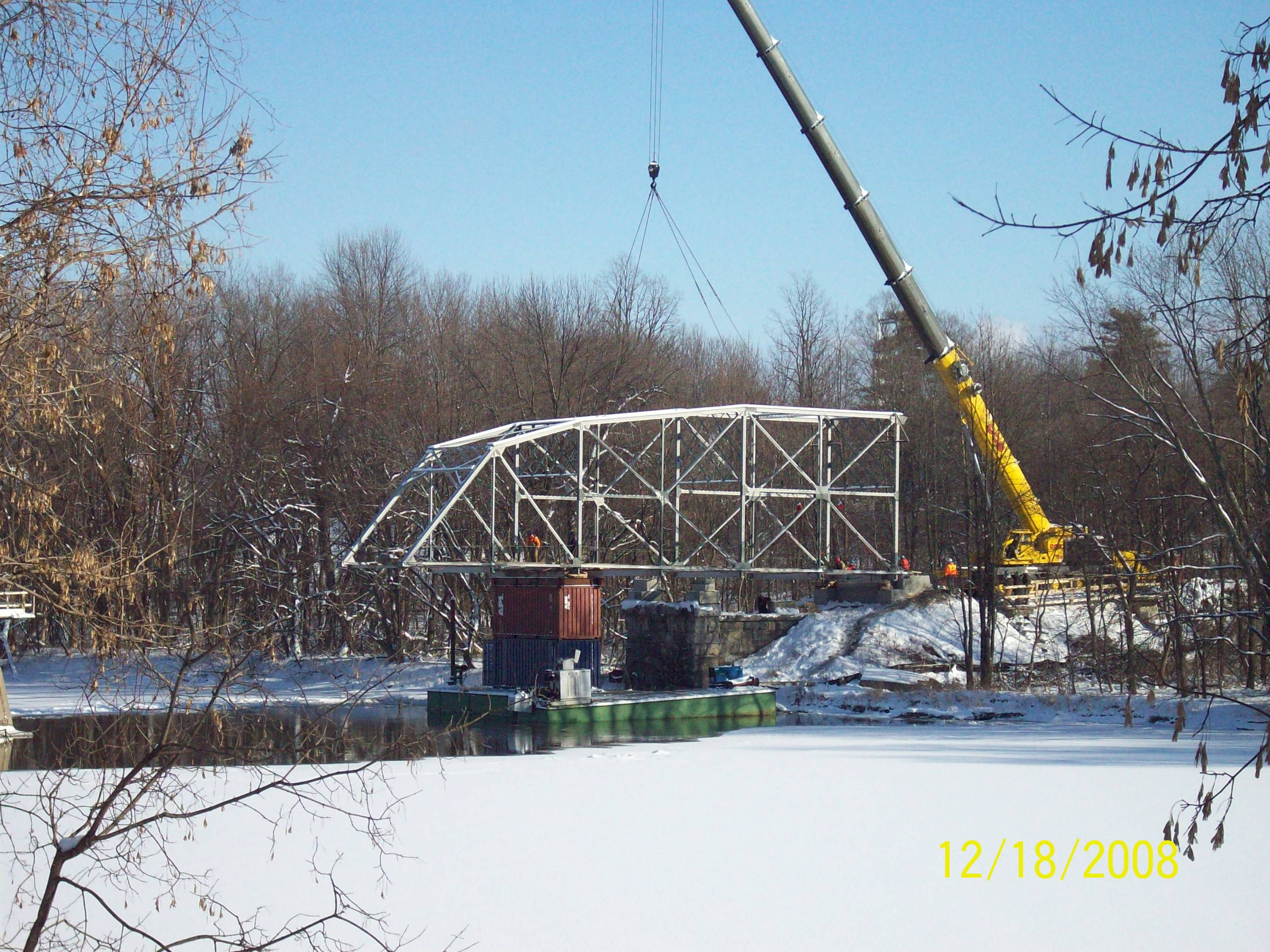 Replacing rehabilitated span of Milton Bridge, VT