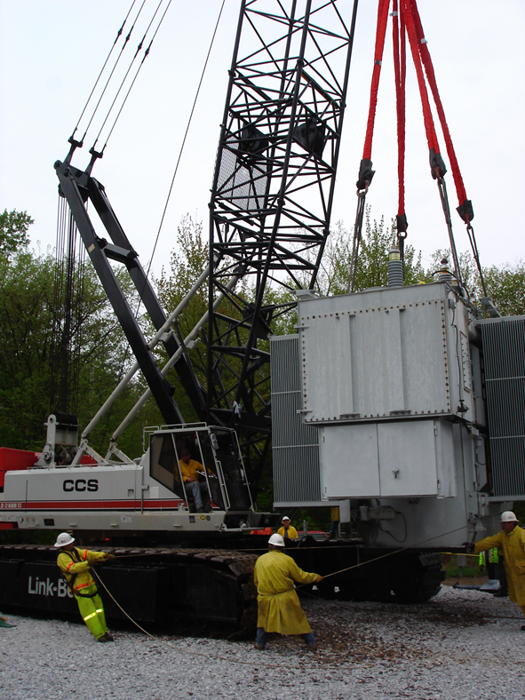 Replacing 210,000 lb Electrical Transformer - Centennial Field, VT