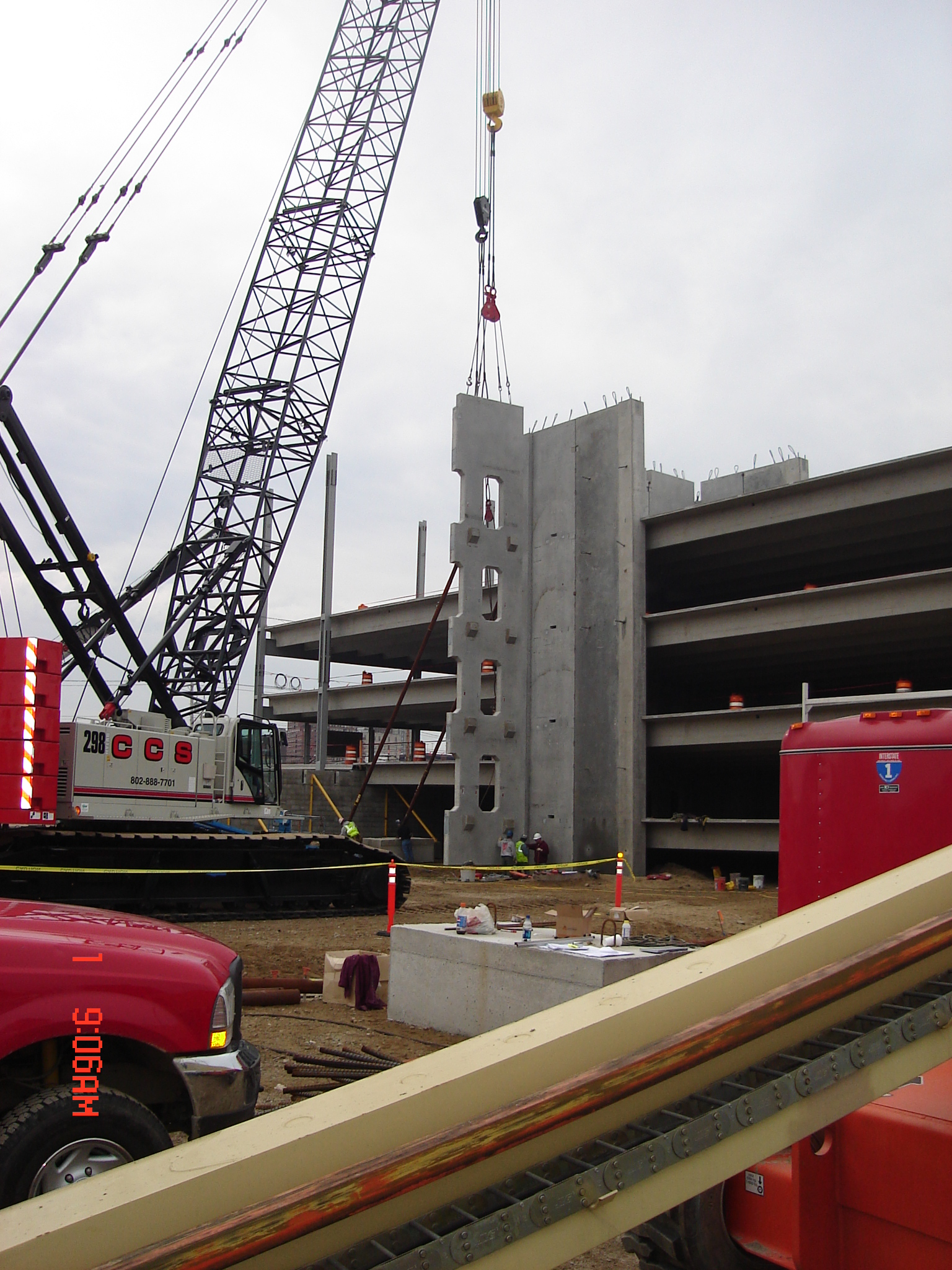 Erecting Stair Tower at Marginal Way-Portland, ME